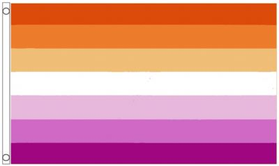 Lesbian Sunset All Inclusive LGBTQ+ Gay Pride 5' x 3' (150cm x 90cm) Flag